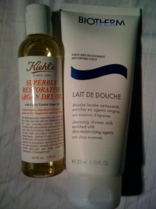 argan oil + lait de douche